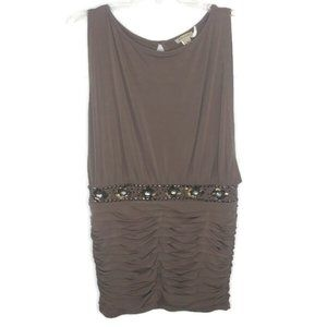 Nikibiki Brown Rhinestone Embellished Dress